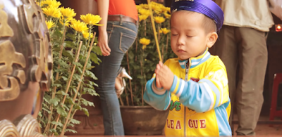 Small Cute Child Praying to God