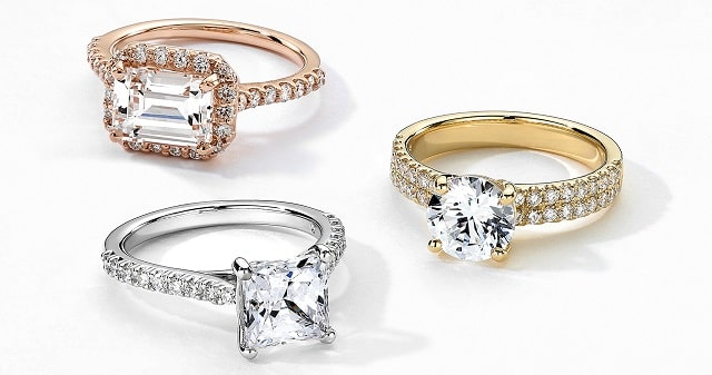 platinum vs gold diamond ring