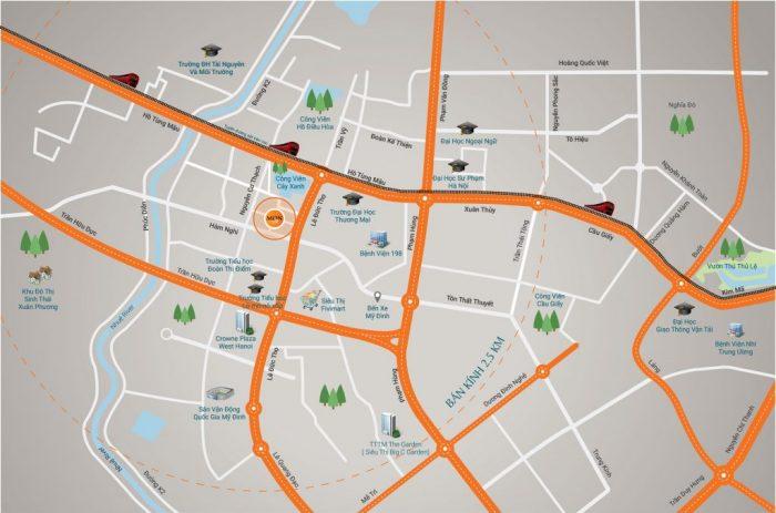 Vị trí dự án HD Mon City