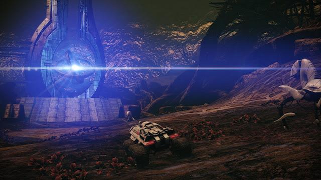 Screenshot of Mako on Ilos in Mass Effect Legendary Edition