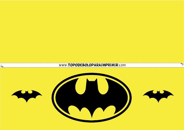 faixa lateral batman para imprimir