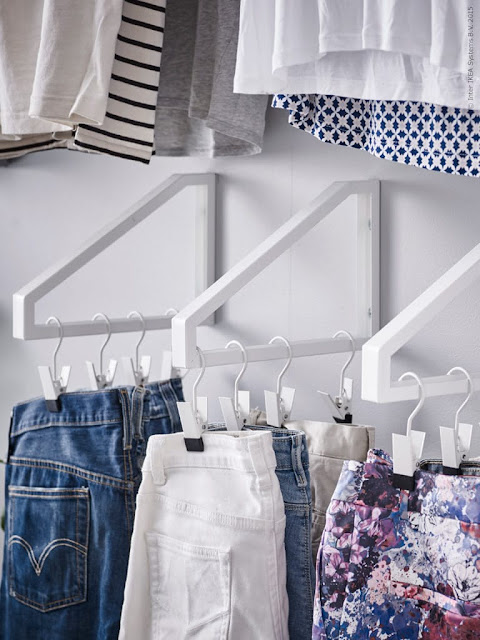 wspornik Ikea, organizacja szafy