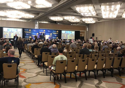 Eager crowd awaits the start of the 2019 International UFO Symposium in Irvine, CA (Source: Palmia Observatory)