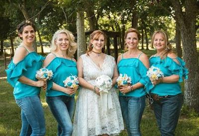 rhinestone cowgirl burlap bouquets