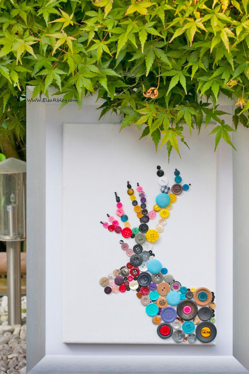 Fabulous Knutselen met knopen (Diy decoratie) | ElsaRblog ZU15