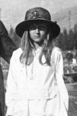 Huguette Clark at Columbia Gardens, Butte, Montana