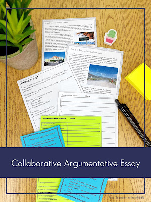 This is a great way to practice argumentative essay writing without tons of grading!  #teaching #middleschool