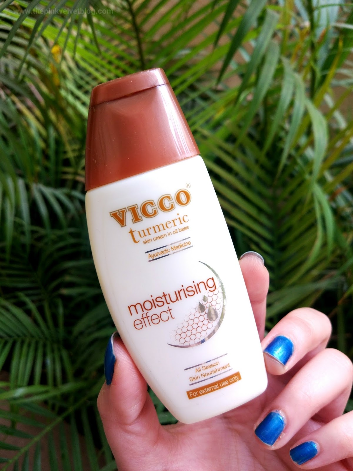 VICCO Turmeric Skin Cream in Oil Base (Moisturizing Effect) - Paraben-Free Moisturizers in India for Oily, Sensitive and Acne-Prone Skin