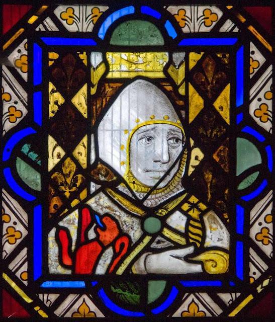 Cavaleiro, vitral proveniente da abadia de St Bertin, França
