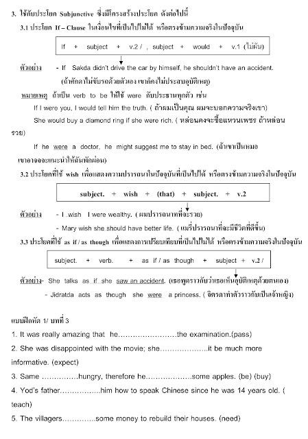 ประโยค Subjunctive