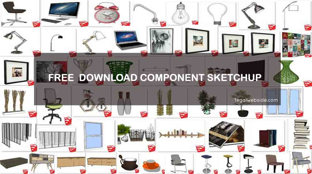 free download component sketchup lengkap