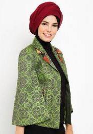 Baju Batik Blazer Muslim Untuk Remaja Modis Modern
