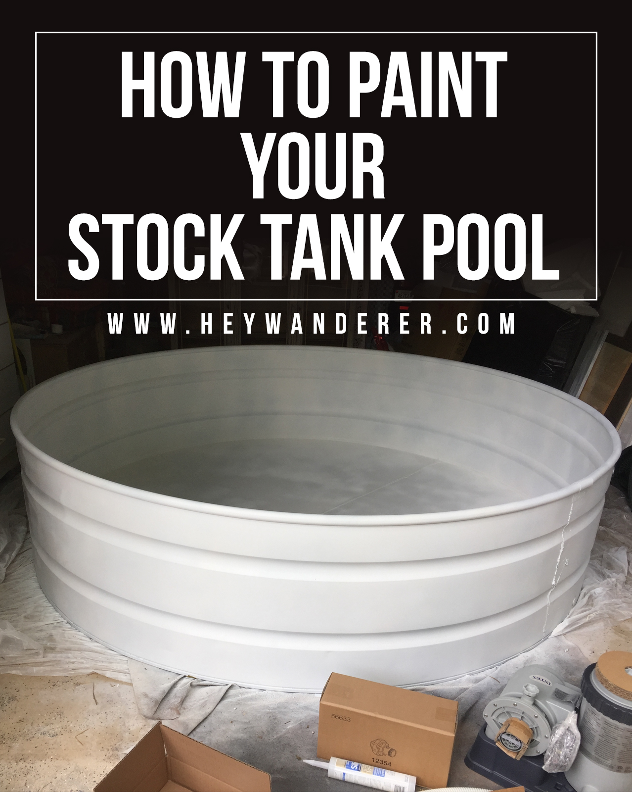 The Best Way To Paint Your Stock Tank Pool