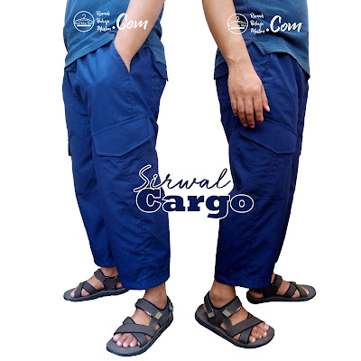 Sirwal Cargo Biru Dongker