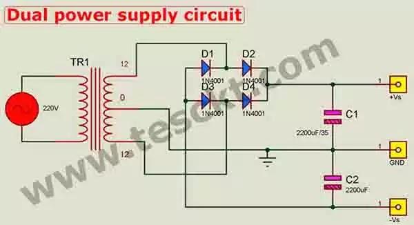 Tda2030 power supply circuit