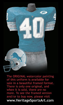Detroit Lions 1991 uniform