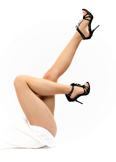 woman legs with black shoes