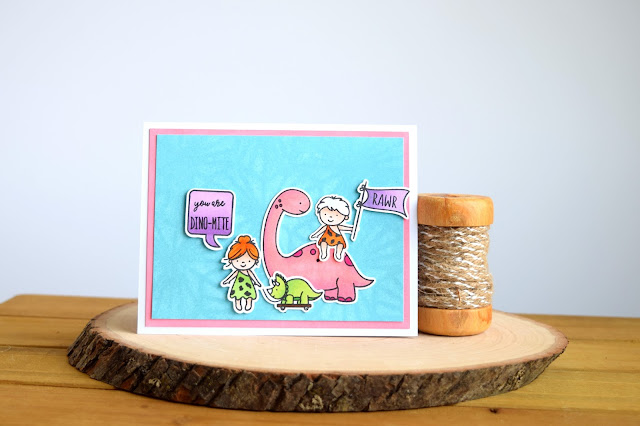Dinosaur Card featuring Neat and Tangled Prehistoric by Jess Crafts #neatandtangled #jesscrafts