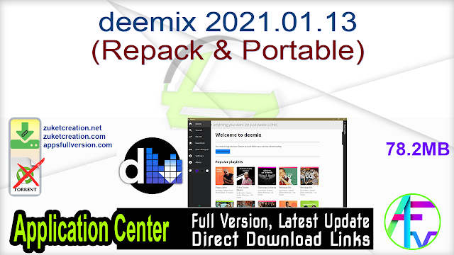 deemix 2021.01.13 (Repack & Portable)