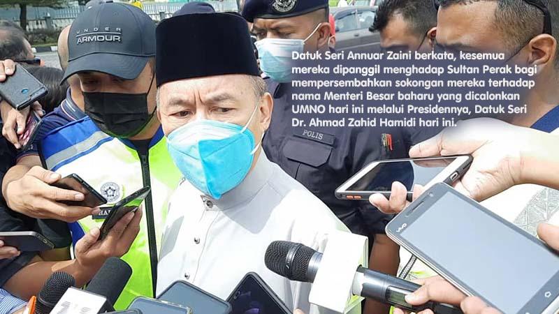 ADUN Bersatu, Pas dipanggil menghadap Sultan Perak
