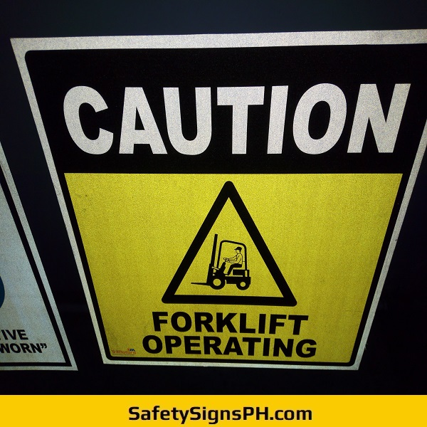 Caution Forklift Operating Safety Sign