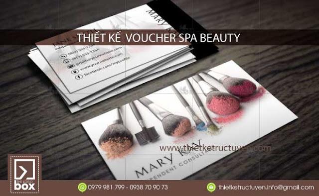 Thiết kế voucher spa