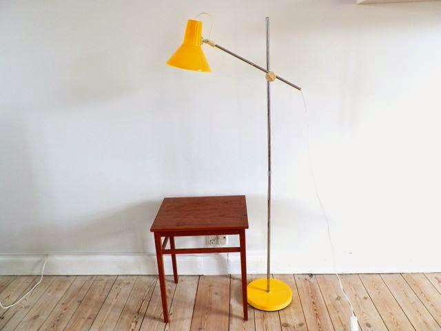 retro standerlampe Retro Furniture: Gul arkitekt standerlampe retro standerlampe