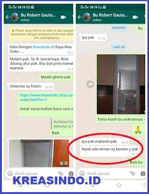 Pintu Expanda Aluminium pesanan Bu Robert di Rancamaya ...