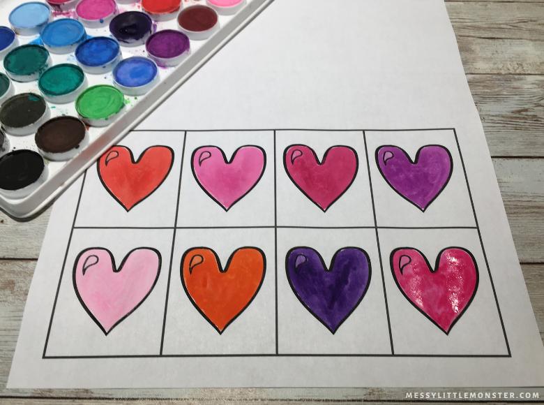 heart art for kids