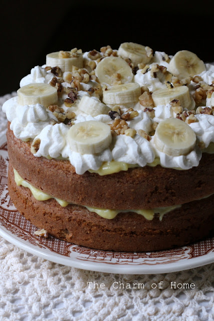 Banana Cream Cake: The Charm of Home