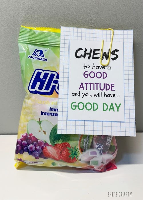 Back to School Encouragement Treat Ideas - free printable and gift ideas for Hi Chews