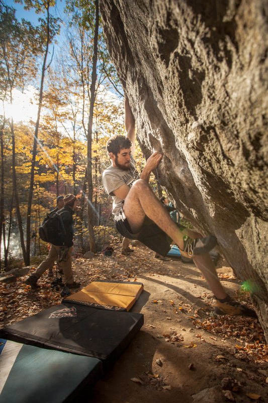 Diego Correal Imagery Bouldering In Lincoln Woods Rhode