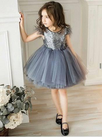 فستان أطفال قصير ومنفوش