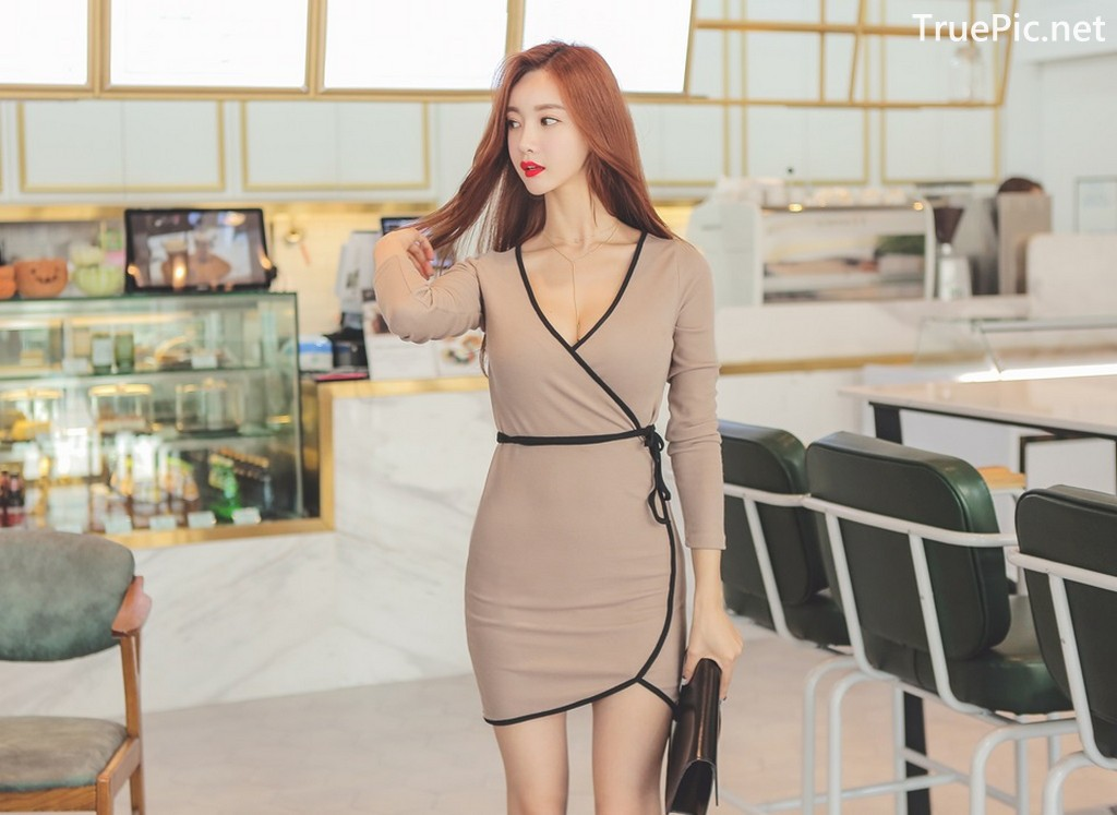 Image Korean Fashion Model - Hyemi - Office Dress Collection - TruePic.net - Picture-10