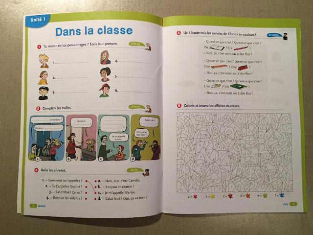 """Recenzje #190 - """"Tip top ! 1"""" - przykładowe strony z zeszytu ćwiczeń - Francuski przy kawie"""