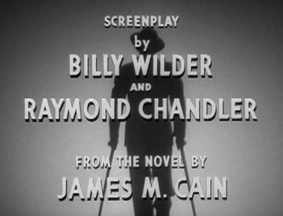 Double Indemnity opening credits