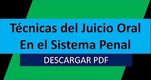 Libro en PDF: Técnicas del Juicio Oral En el Sistema Penal