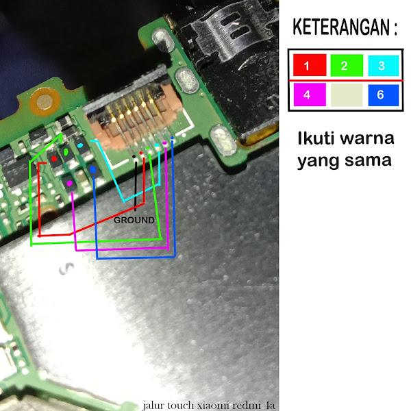 jalur touchscreen xiaomi 4A