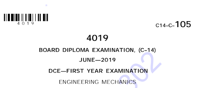 Diploma Engineering Mechanics Previous Question Paper c14 June 2019