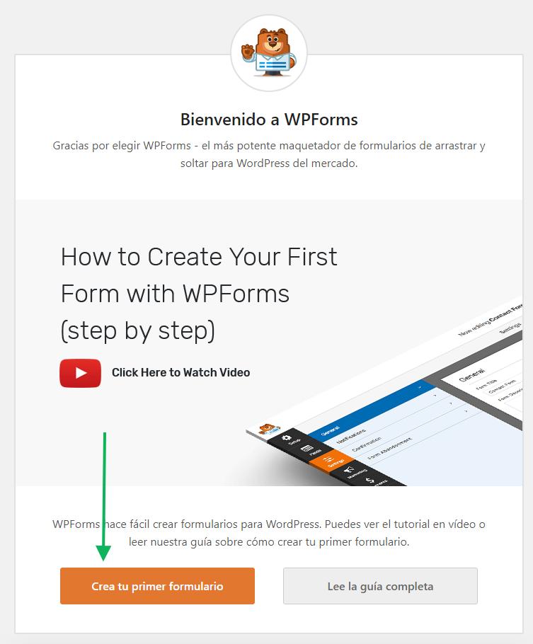 Crear primer formulario