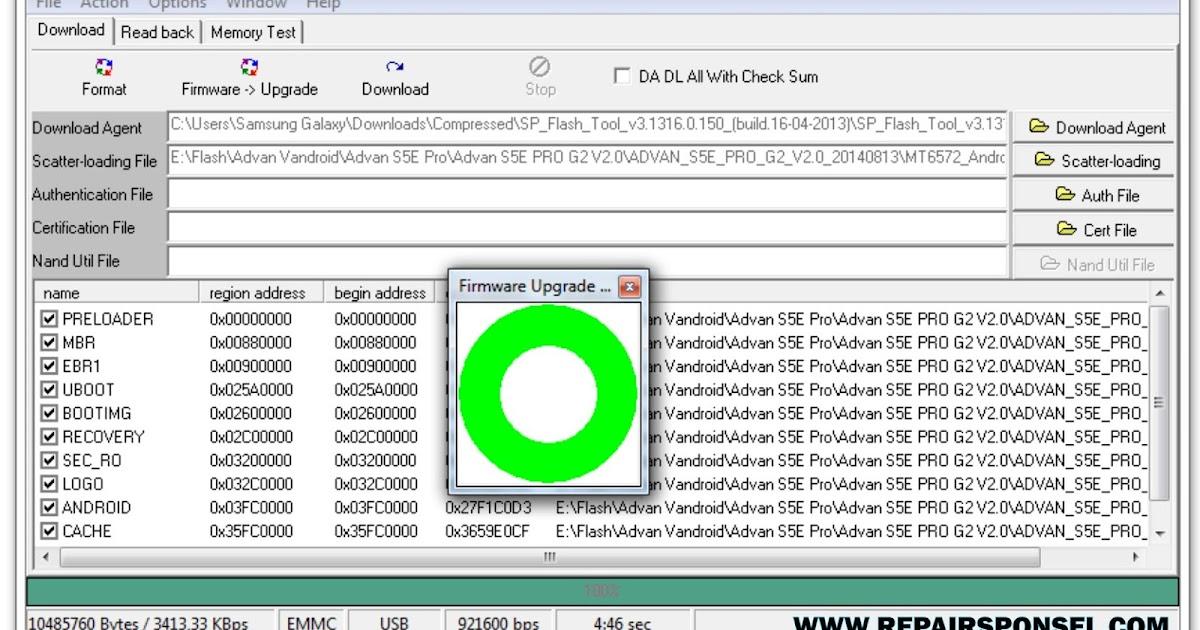 sp flash tool v 3.1312.01.exe