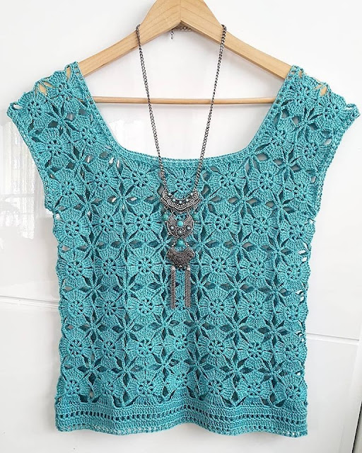 Crochet women top or blouse.