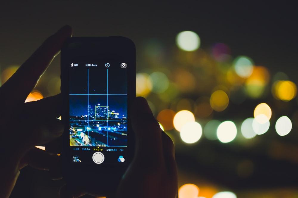 câmera de celular
