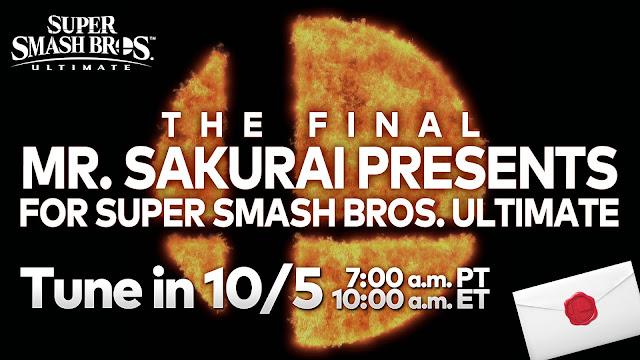 Super Smash Bros. Ultimate (Switch) tem data do último Mr. Sakurai Presents anunciada