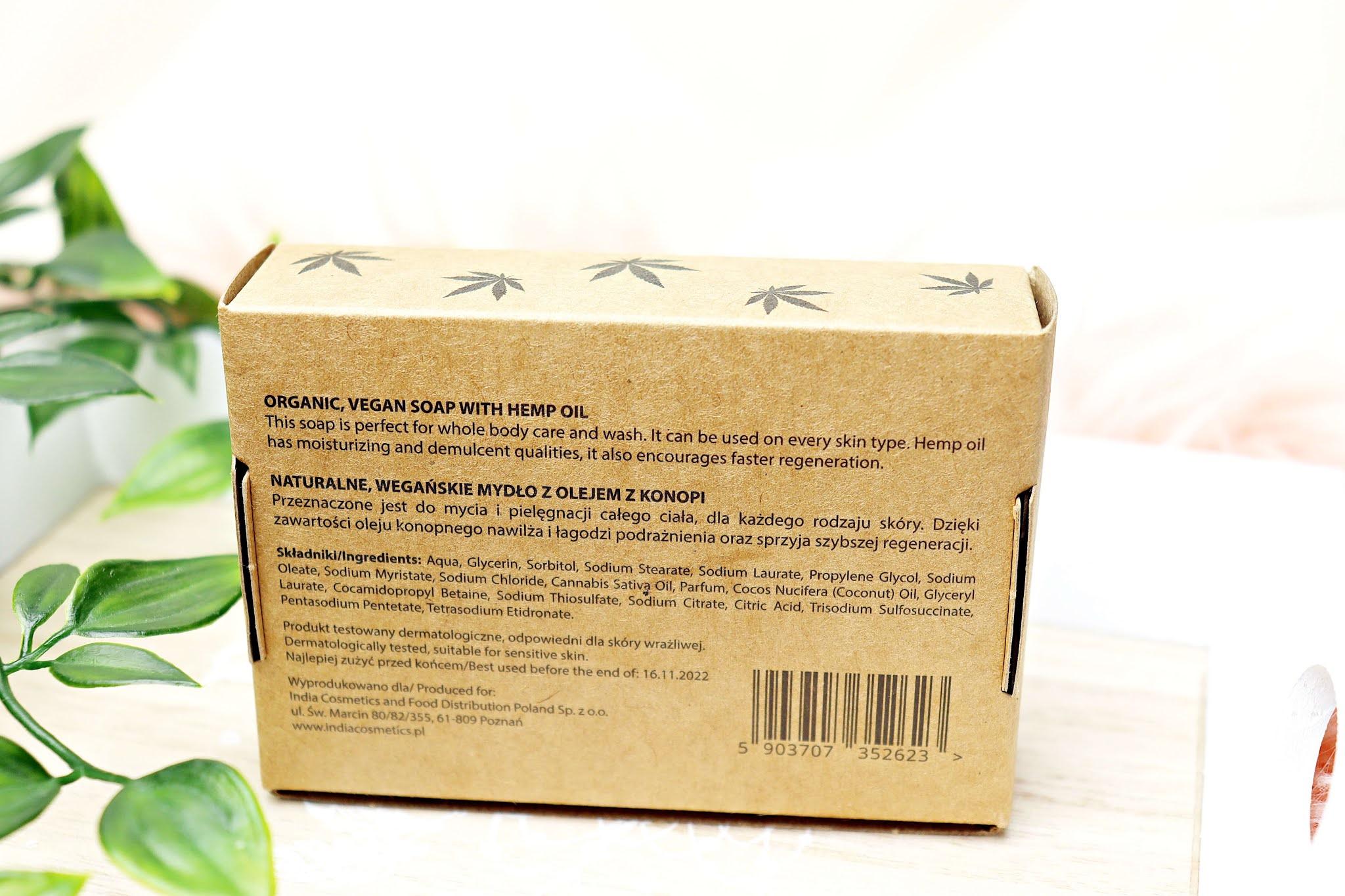 Mydło z olejem konopnym India Cosmetics