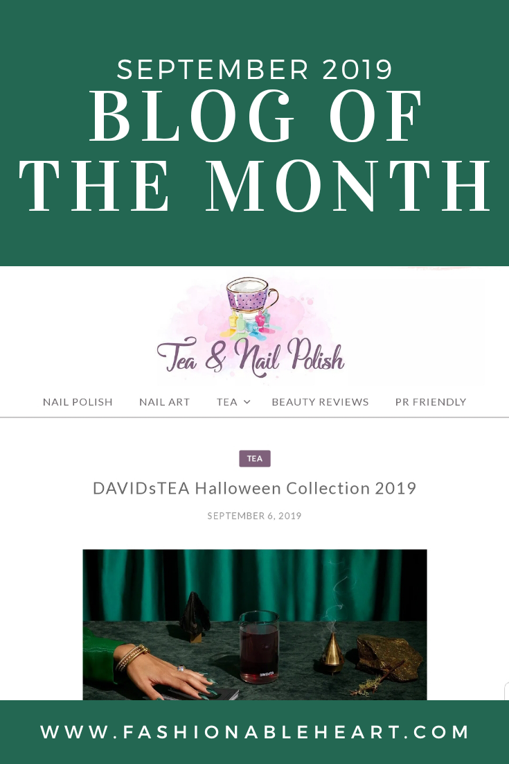bblogger, bbloggers, bbloggerca, bbloggersca, canadian beauty bloggers, tea blog, nail polish blogger, nail polish swatches, reviews, davidstea, tea and nail polish, tea & nail polish, featured blogger, blog of the month