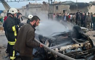 تفجير في أعزاز السورية يودي بحياة 5 مدنيين (فيديو)