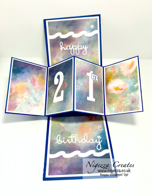 Nigezza Creates, Stampin' Up! Perennial Essence DSP Twist & Pop Card