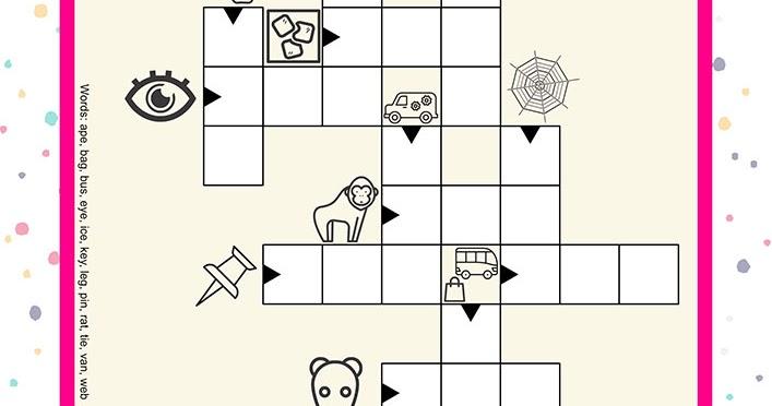 vocabulary building worksheets three letter noun crosswords. Black Bedroom Furniture Sets. Home Design Ideas