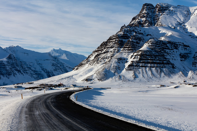 Snowy landscapes are part of Iceland road trip advantages